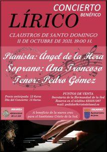 Concierto Lírico a beneficio de la nueva Cruz del Stmo. Cristo de la Sed. @ Claustros de Santo Domingo - Jerez