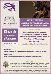 "Viaje a Sevilla Salida Extraordinaria ""Gran Poder"" @ Parroquia Stmo. Cristo de la Sed"